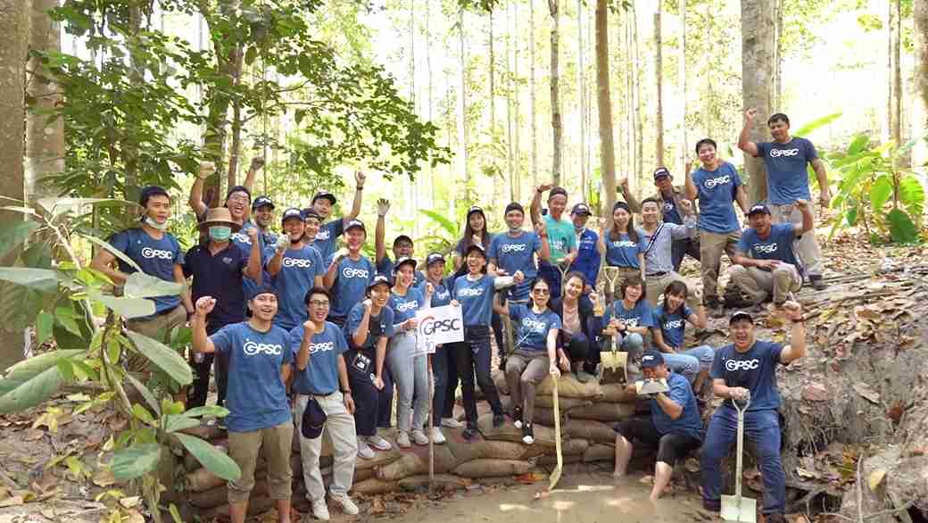 โครงการสร้างฝายชะลอน้ำป่าชุมชนเขาภูดรห้วยมะหาด รักษาป่าต้นน้ำอย่างยั่งยืน