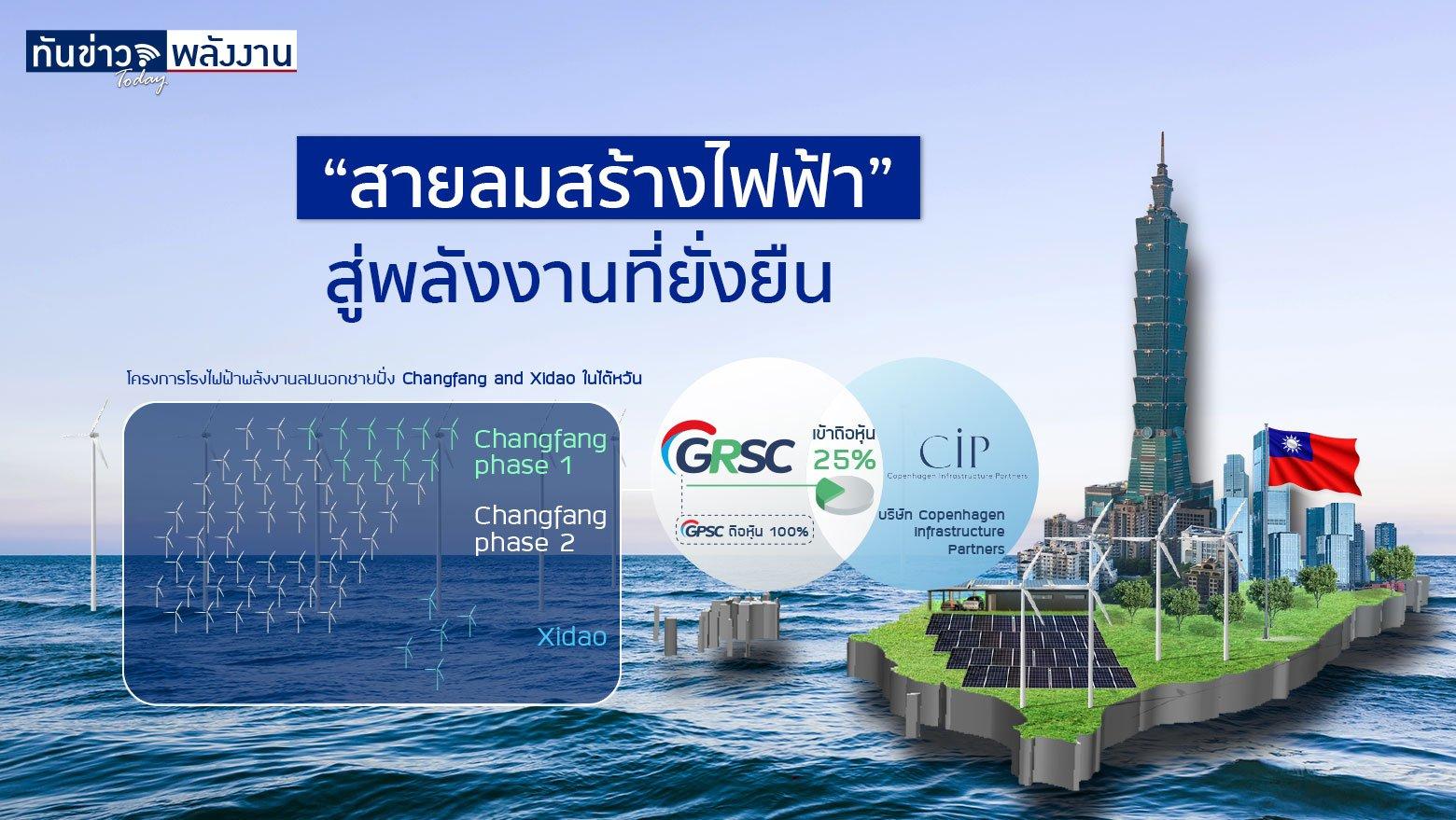 ทำไม GPSC เลือกลงทุนพลังงานไฟฟ้าจากลมที่ไต้หวัน ?